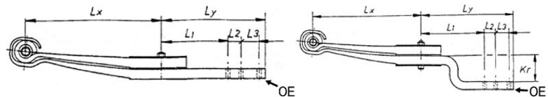 1. Lage p.f. BPW Parabellenker 100x40x550/103 [88139901]
