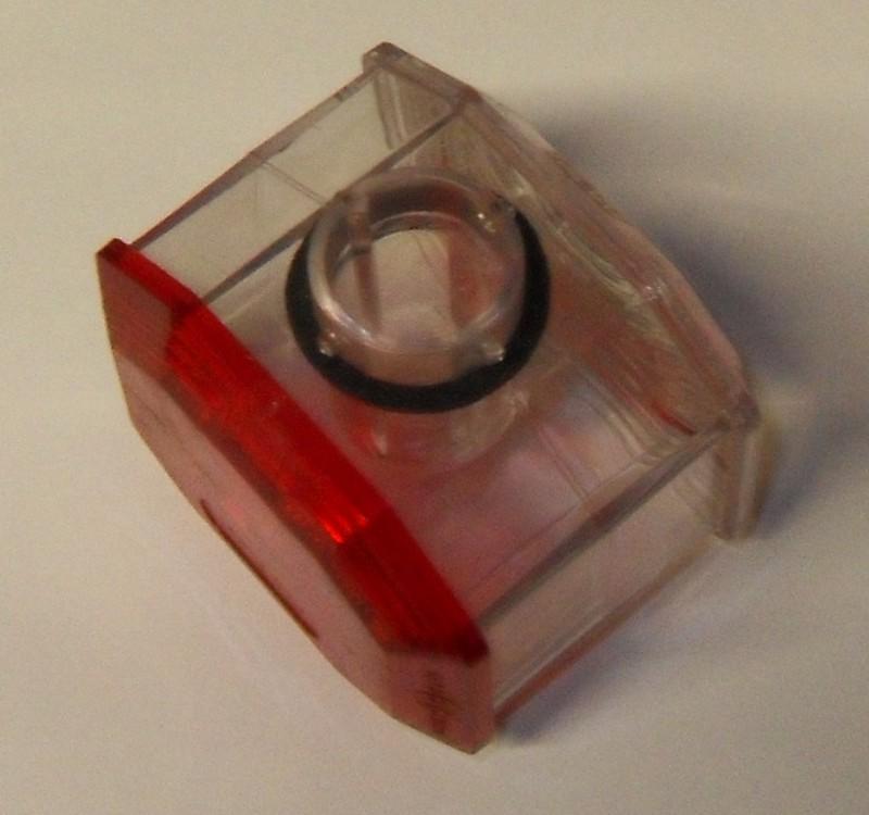 Lichtscheibe rot/weiß wasserdicht f. Positionsleuchte[32-000818]