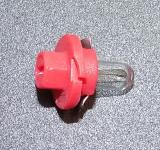 Kunststoffsockellampe dunkelrot 24V 1,5W p.f. MAN F2000