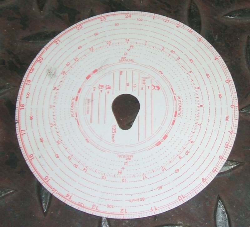 Diagrammscheibe (1 Packung) 125 EG/ECCombi [S816KOMBI]