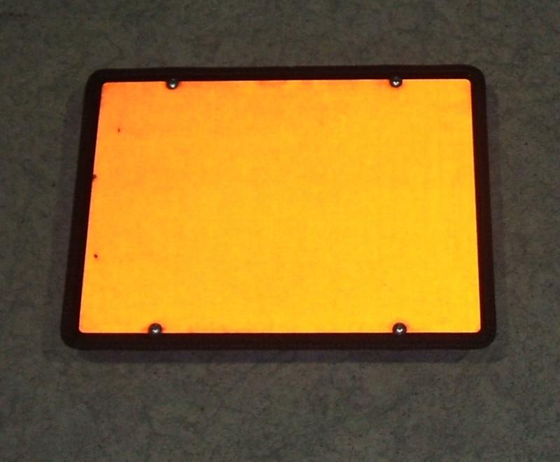 Warntafel orange 400x300 starr ohne Prägung [000.263-00]