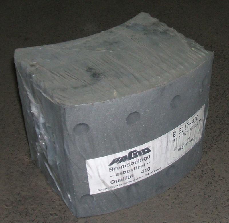 Trommelbremsbelagsatz 16mm Übermaß p.f. Brandis[B5117]