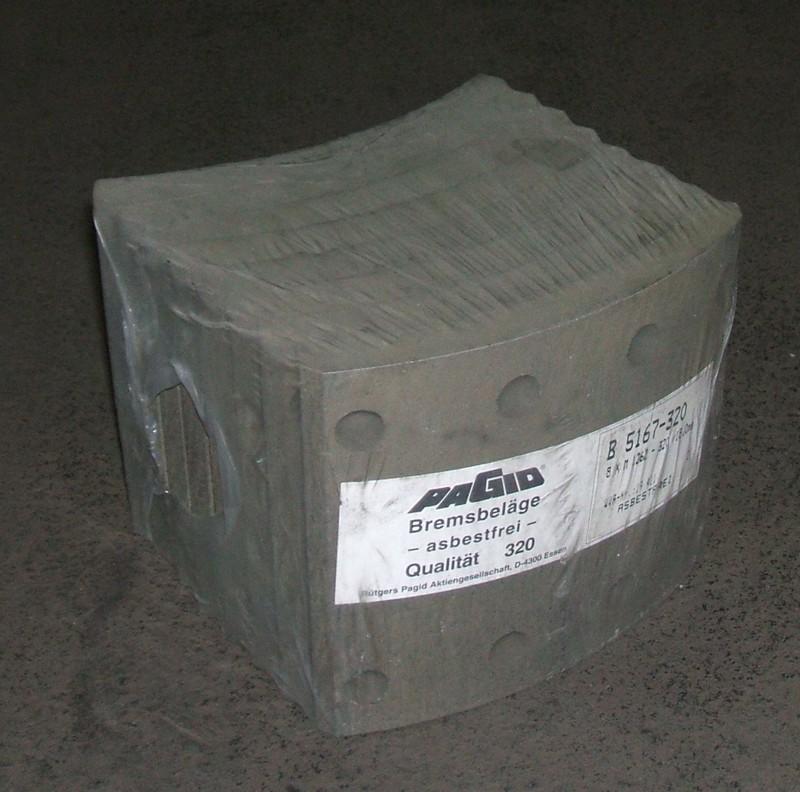 Trommelbremsbelagsatz 2.Übermaß 18mm p.f. TATRA[B5167-320]