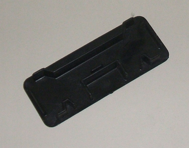 Kunststoffdeckel f. seitl. Unterfahrschutz 100x40 [D19378]
