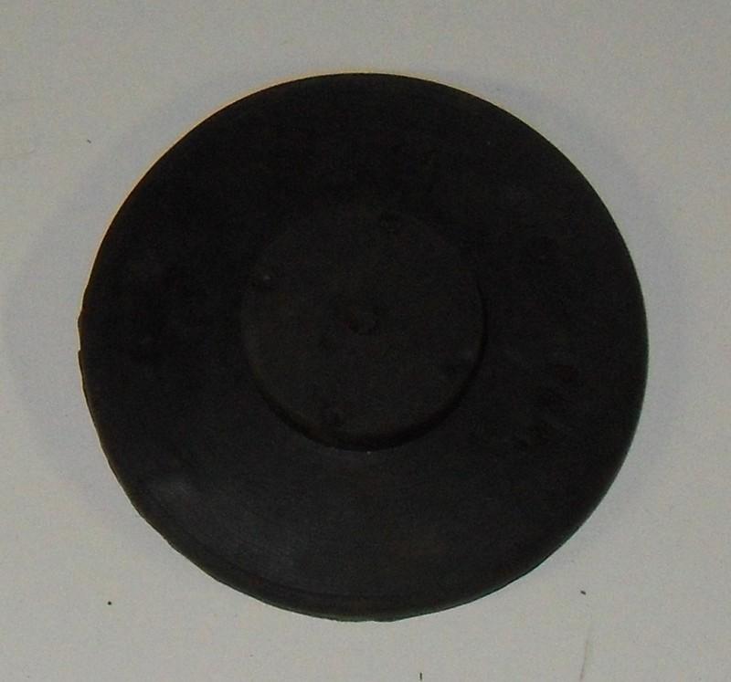 Scheibe Plastik/Gummi d1=59; h1=3; d2=24; h2=7 [TRAGLEIT08]